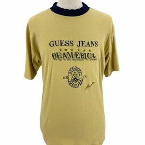Vintage Guess Jeans Of America USA Embroidered T S